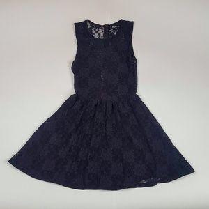 For Love & Lemons Lulu Fit & Flair Lace Dress